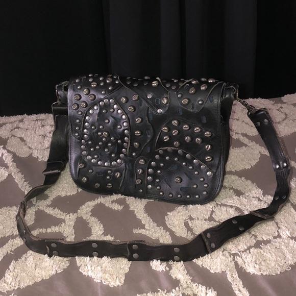 Patricia Nash Handbags - Patricia Nash Rosa crossbody bag black studded